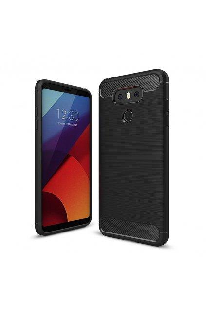 Carbon Case Flexible Cover TPU Case for LG G6 H870 black