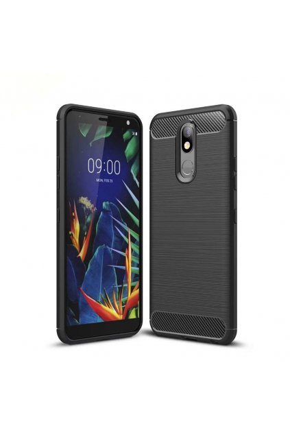 eng pl Carbon Case Flexible Cover TPU Case for LG K40 X420 black 50774 1