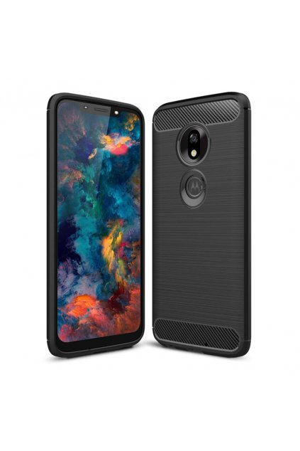 eng pl Carbon Case Flexible Cover TPU Case for Motorola Moto G7 Play black 48414 1