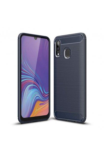 eng pl Carbon Case Flexible Cover TPU Case for Samsung Galaxy A40 blue 50240 1