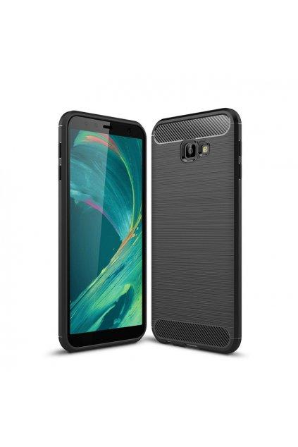 eng pl Carbon Case Flexible Cover TPU Case for Samsung Galaxy J4 Plus 2018 J415 black 45517 1