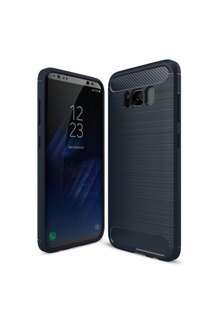 eng pl Carbon Case Flexible Cover TPU Case for Samsung Galaxy S9 G960 blue 40728 1