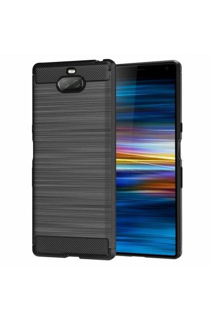 eng pl Carbon Case Flexible Cover TPU Case for Sony Xperia XA3 black 50250 1