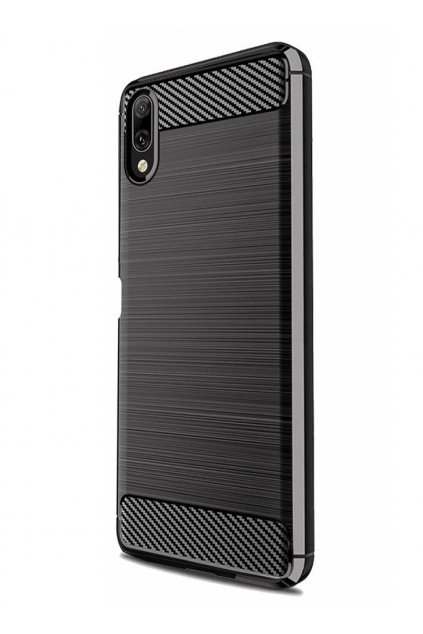 eng pl Carbon Case Flexible Cover TPU Case for Sony Xperia L3 black 50252 6