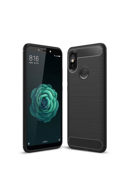 eng pl Carbon Case Flexible Cover TPU Case for Xiaomi Mi A2 Mi 6X black 42476 1