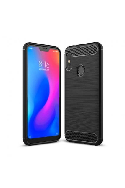 eng pl Carbon Case Flexible Cover TPU Case for Xiaomi Mi A2 Lite Redmi 6 Pro black 42479 1