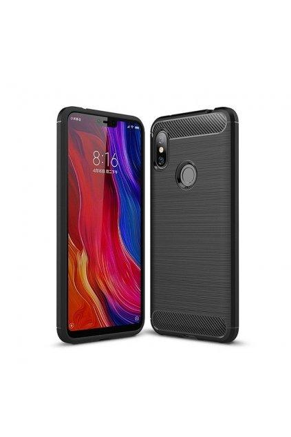 eng pl Carbon Case Flexible Cover TPU Case for Xiaomi Redmi Note 6 Pro black 45514 1