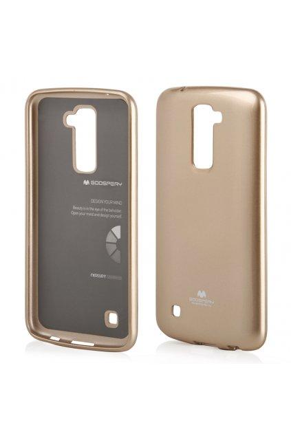 perleťový kryt na LG K 10 zlatý