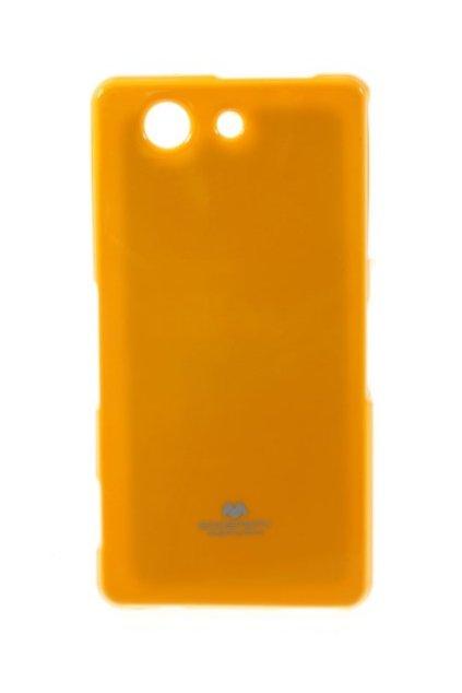 perleťový kryt na Sony z3 compact žlutý