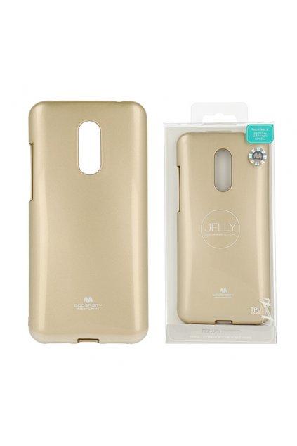 Perleťově zbarvený jelly case mercury na Xiaomi Redmi 5 Plus zlatý