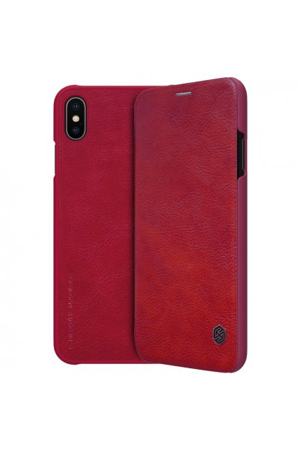eng pl Nillkin Qin original leather case cover for iPhone XS Max red 44627 22
