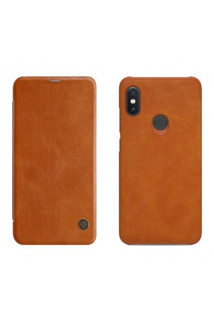 eng pl Nillkin Qin original leather case cover for Xiaomi Redmi Note 6 Pro brown 46138 1