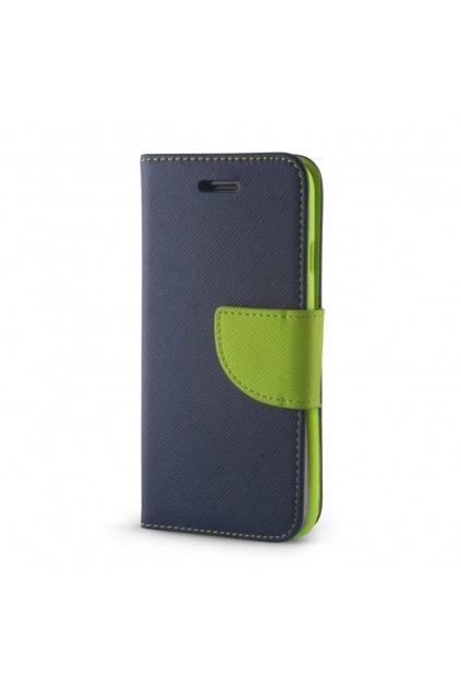 PU kožené flipové pouzdro na Huawei Y7 tmavě modréé