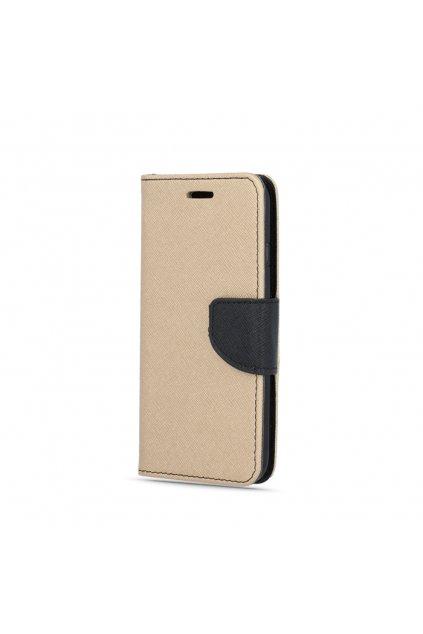 PU kožené pouzdro na Samsung A7 2017 zlatočerné
