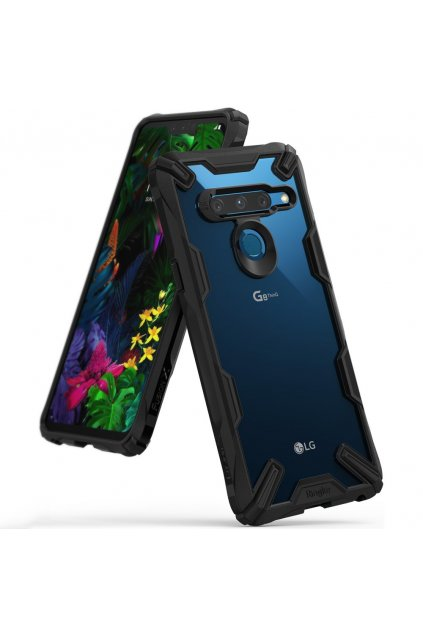 eng pl Ringke Fusion X durable PC Case with TPU Bumper for LG G8 ThinQ black FXLG0006 49422 1