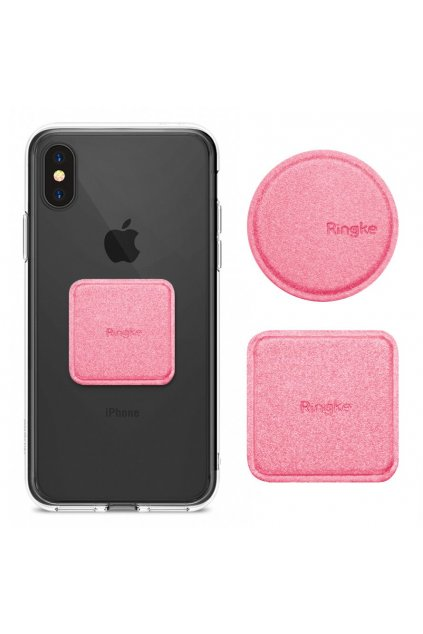 eng pl Ringke Magnetic Mount Metal Plate 2x PU Leather Covered Self Adhesive Metal Plate for Magnetic Car Holders pink ACPU0002 40170 10