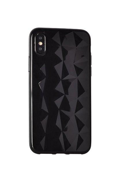 Diamantový siliknový kryt na huawei P20 lite černý