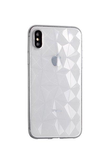 16218 silikonovy diamantovy kryt na huawei p20 pro transparentni