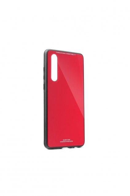Sklenený kryt na Huawei P30 - červený
