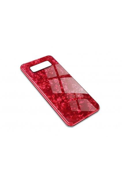 15753 6 skleneny luxusni marble kryt na samsung galaxy note 8 cerveny