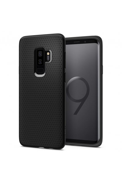 13782 spigen liquid air matte black kryt na samsung galaxy s9 plus