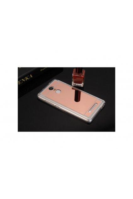 zrcadlový silikonový růžový