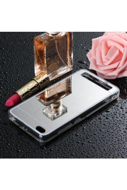 zrcadlový silikonový kryt na Xiaomi redmi 5a stříbrný