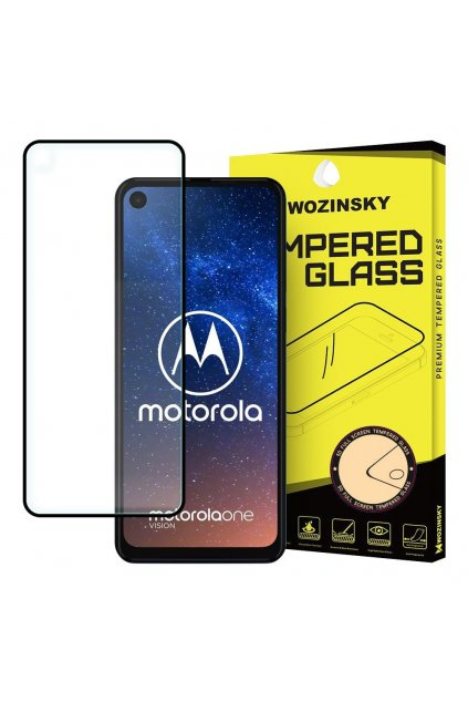 eng pl Wozinsky Tempered Glass Full Glue Super Tough Screen Protector Full Coveraged with Frame Case Friendly for Motorola One Action Motorola One Vision black 50889 5