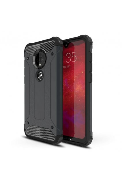 eng pl Hybrid Armor Case Tough Rugged Cover for Motorola Moto G7 Plus G7 black 48695 1