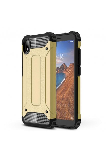 eng pl Hybrid Armor Case Tough Rugged Cover for Xiaomi Redmi 7A golden 52289 1