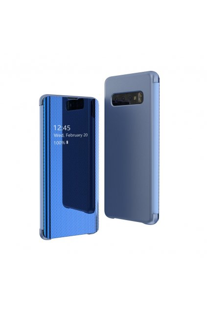 eng pl Flip View cover for Samsung Galaxy S10 Plus blue 52968 1