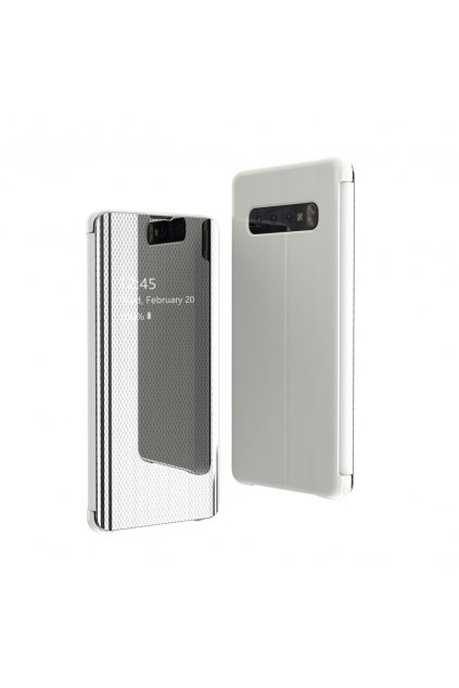eng pl Flip View cover for Samsung Galaxy S10 Plus silver 52966 1