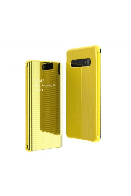 eng pl Flip View cover for Samsung Galaxy S10e yellow 52976 1