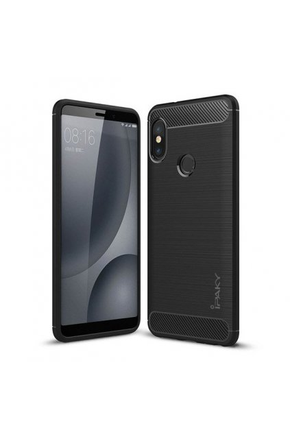 eng pl iPaky Slim Carbon Flexible Cover TPU Case for Xiaomi Redmi Note 5 dual camera Redmi Note 5 Pro black 42670 1