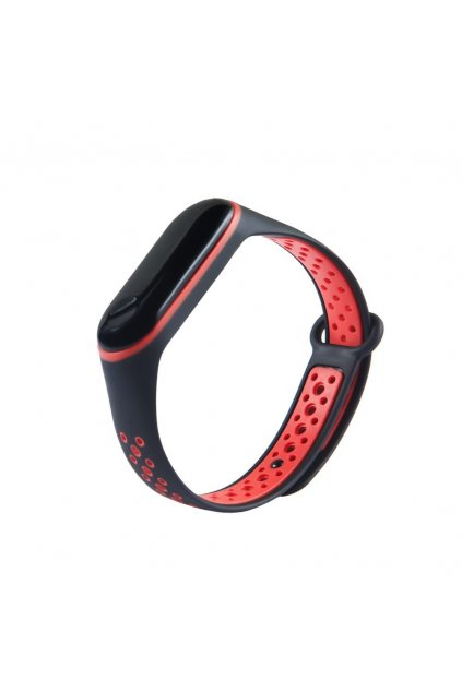 eng pl Replacment band strap for Xiaomi Mi Band 4 Mi Band 3 Dots black red 54237 3