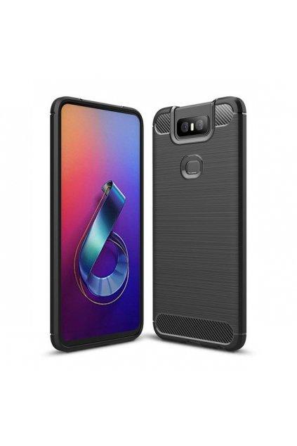 eng pl Carbon Case Flexible Cover TPU Case for Asus Zenfone 6 ZS630KL black 51345 1
