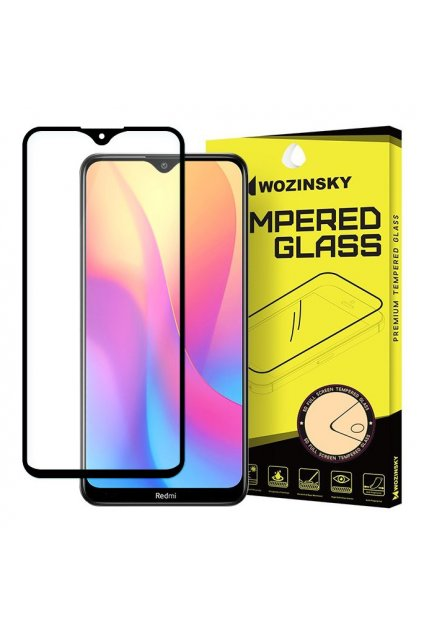 eng pl Wozinsky Tempered Glass Full Glue Super Tough Screen Protector Full Coveraged with Frame Case Friendly for Xiaomi Redmi 8A black 54424 15