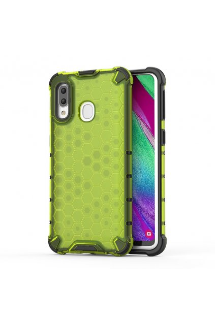 eng pl Honeycomb Case armor cover with TPU Bumper for Samsung Galaxy A40 green 53836 1