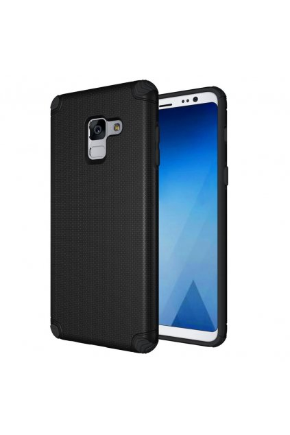 eng pl Light Armor Case Rugged Durable PC Cover for Samsung Galaxy A8 2018 A530 black 40707 1