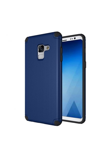 eng pl Light Armor Case Rugged Durable PC Cover for Samsung Galaxy A8 2018 A530 navy blue 40708 1