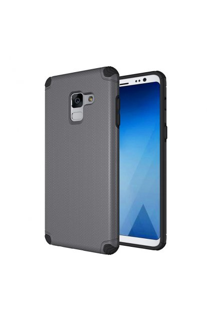 eng pl Light Armor Case Rugged Durable PC Cover for Samsung Galaxy A8 2018 A530 grey 40709 1