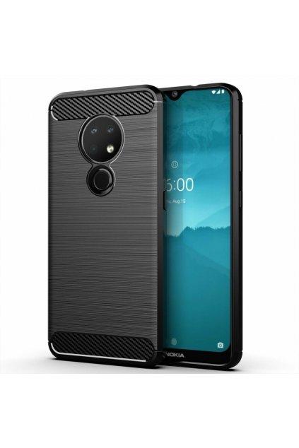eng pl Carbon Case Flexible Cover TPU Case for Nokia 7 2 Nokia 6 2 black 55236 1