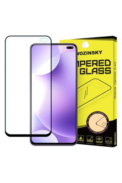 eng pl Wozinsky Tempered Glass Full Glue Super Tough Screen Protector Full Coveraged with Frame Case Friendly for Xiaomi Redmi K30 black 56561 1