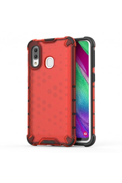 eng pl Honeycomb Case armor cover with TPU Bumper for Samsung Galaxy A40 red 53837 1