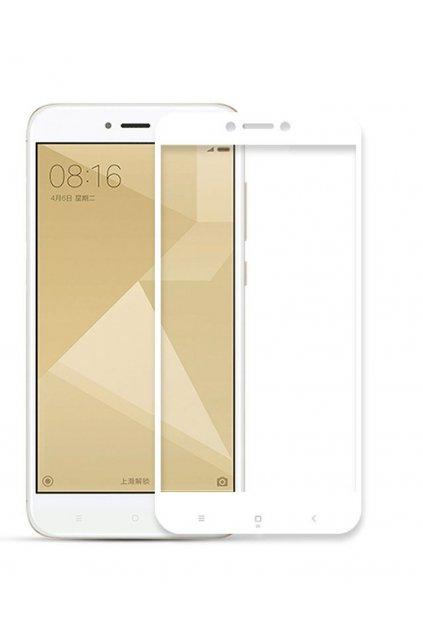3D sklo na Xiaomi redmi note 4 global bílé