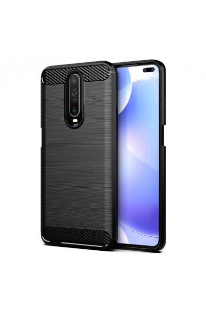 eng pl Carbon Case Flexible Cover TPU Case for Xiaomi Redmi K30 black 56803 1