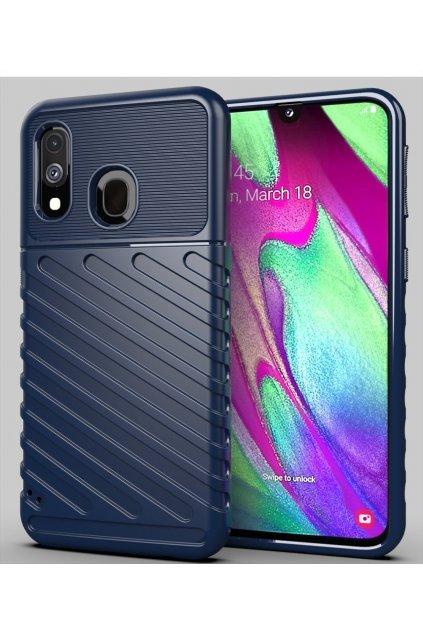 eng pl Thunder Case Flexible Tough Rugged Cover TPU Case for Samsung Galaxy A40 blue 56357 1