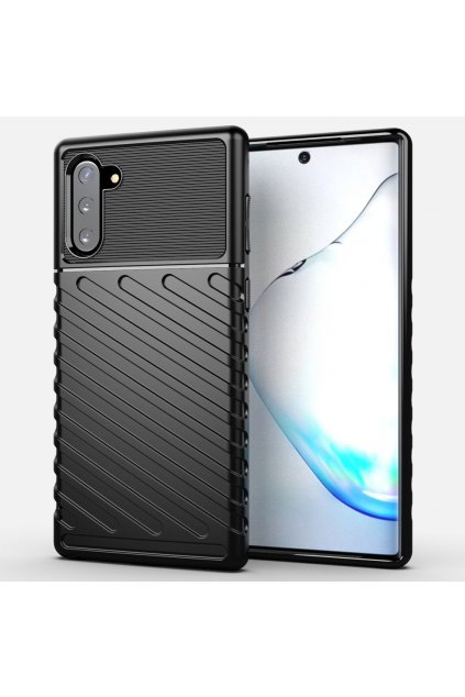 eng pl Thunder Case Flexible Tough Rugged Cover TPU Case for Samsung Galaxy Note 10 black 56344 1