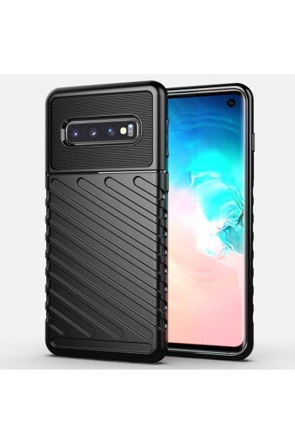 eng pl Thunder Case Flexible Tough Rugged Cover TPU Case for Samsung Galaxy S10 black 56346 1