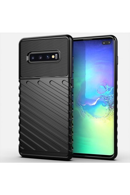 eng pl Thunder Case Flexible Tough Rugged Cover TPU Case for Samsung Galaxy S10 Plus black 56348 1